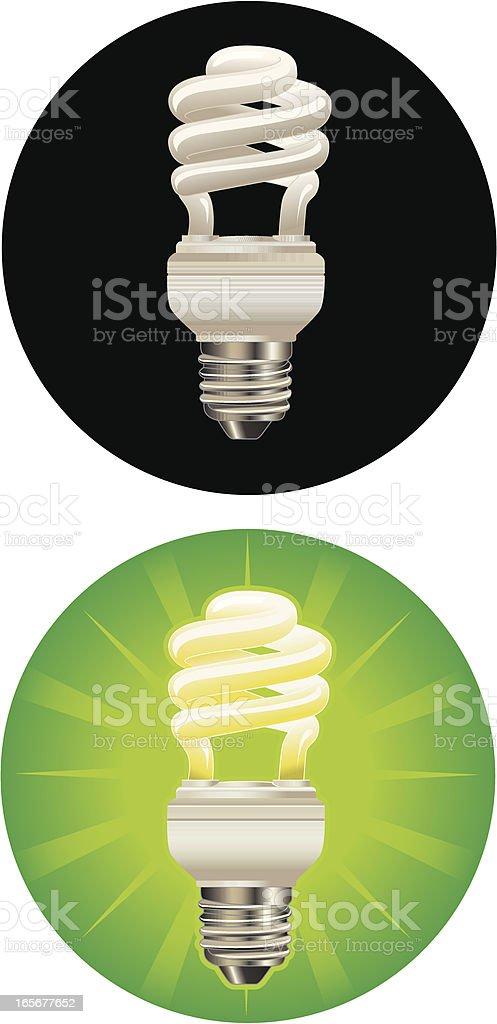 CFL Lightbulb royalty-free stock vector art