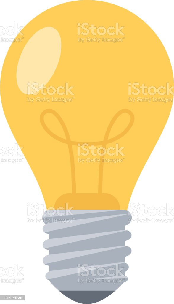 Lightbulb. vector art illustration