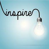Lightbulb word inspire