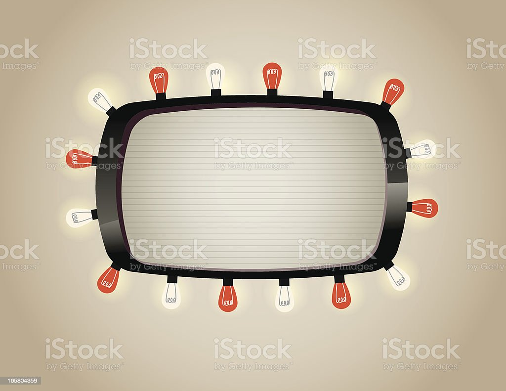 Lighted Marquee vector art illustration