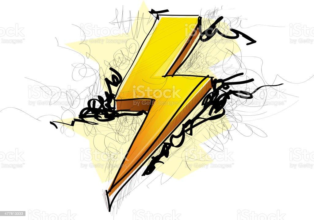 Lightening Bolt Abstract royalty-free stock vector art