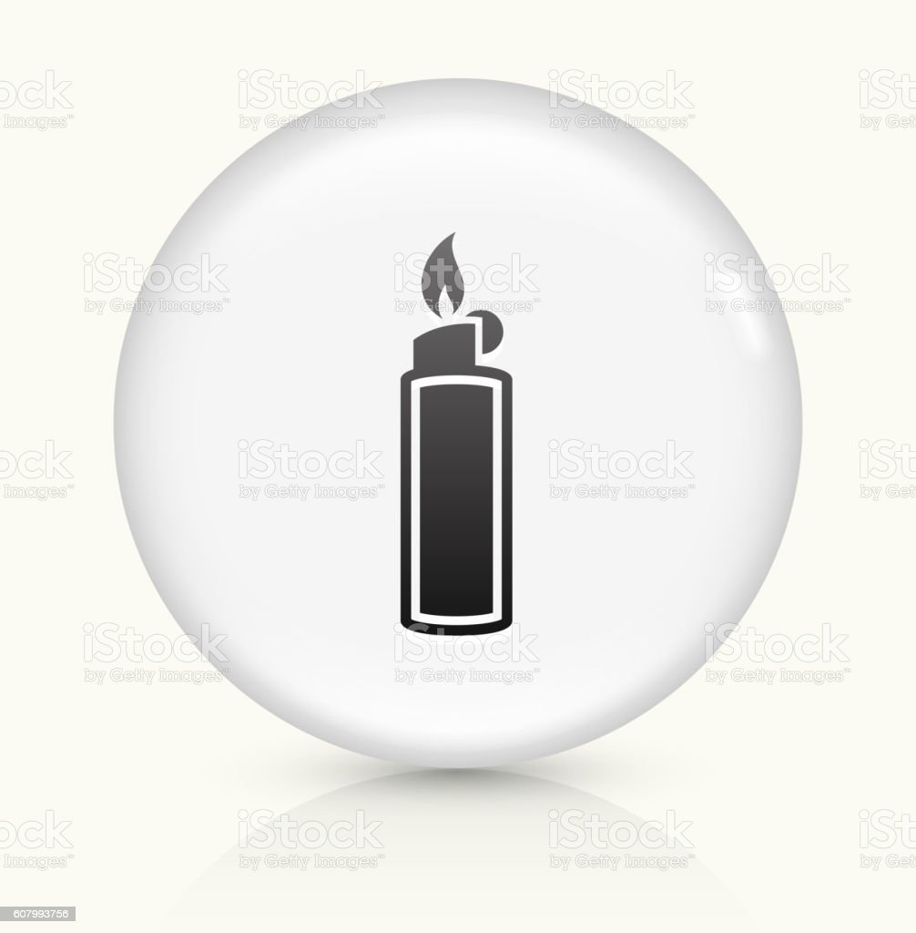 Lighter icon on white round vector button vector art illustration