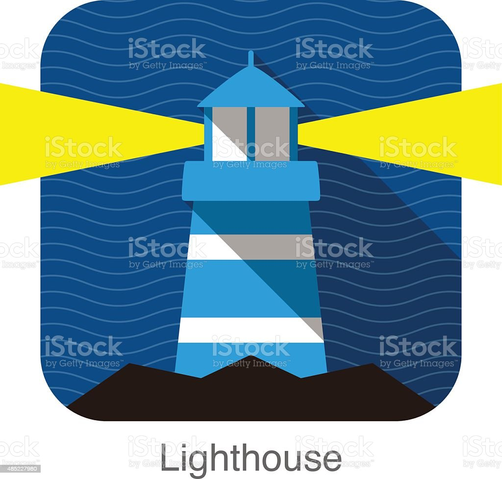 Lighthouse  flat icon design vector art illustration