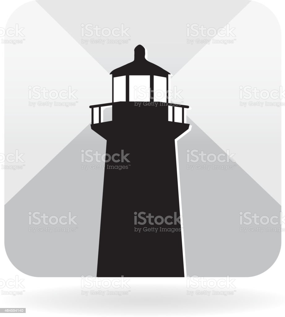 Lighthouse icon vector art illustration
