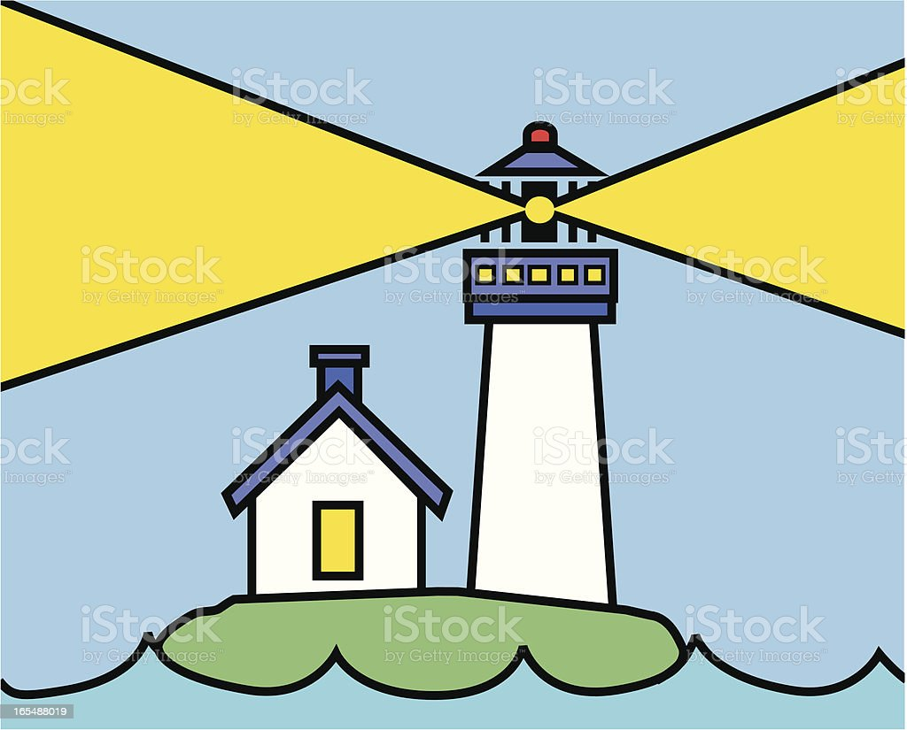 lighthouse royalty-free stock vector art