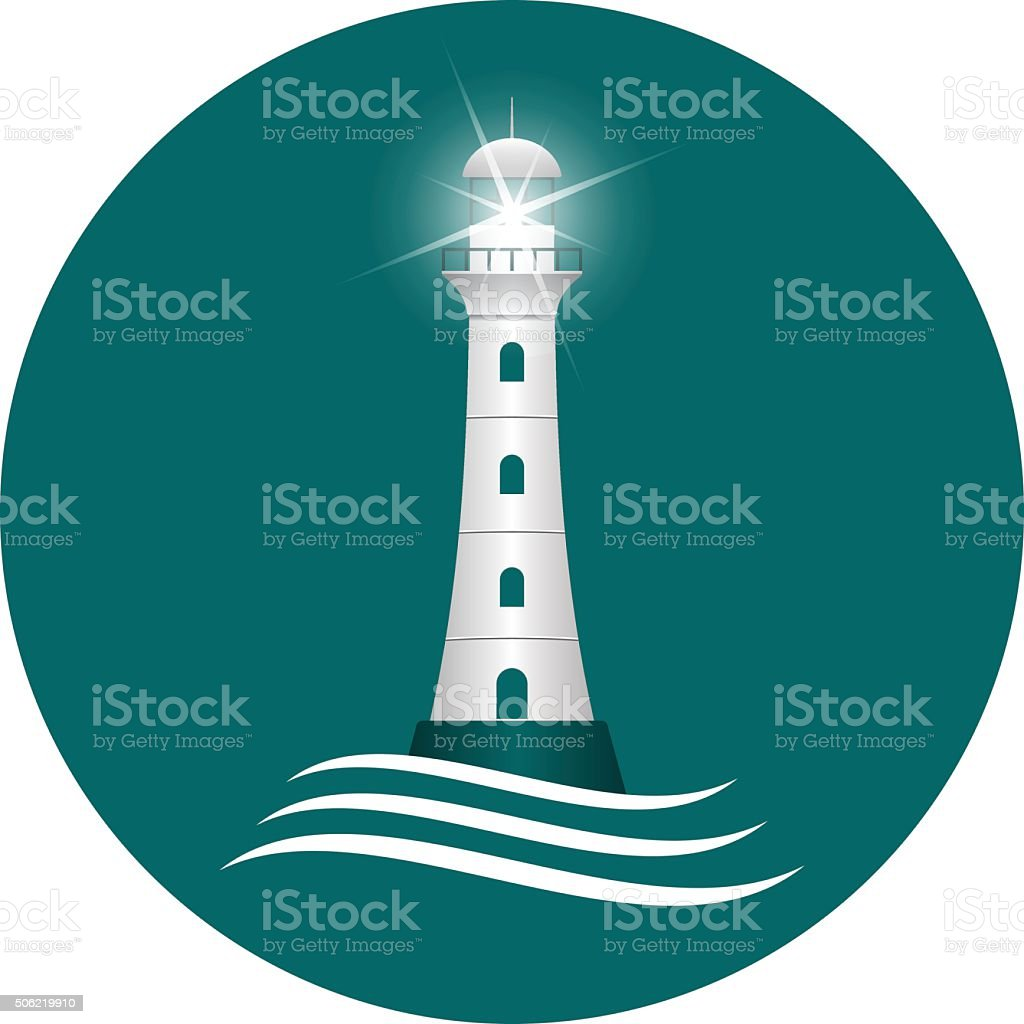 Lighthouse. vector art illustration