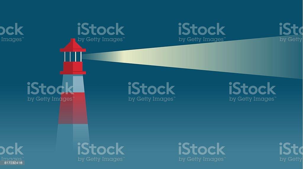 Lighthouse vector art illustration