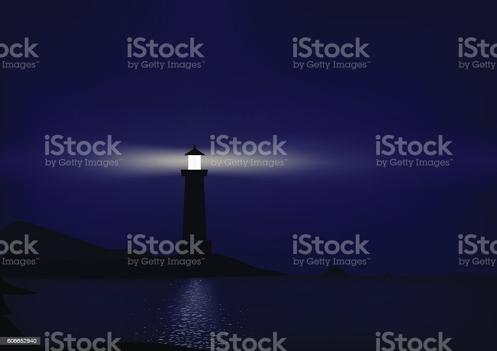 Lighthouse vector art illustration