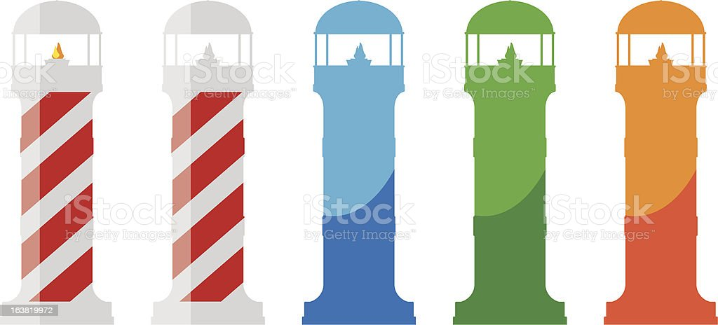 Lighthouses royalty-free stock vector art