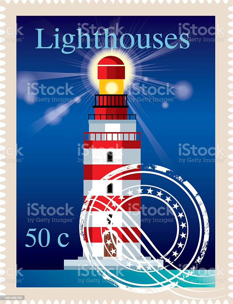 Lighthouses vector art illustration