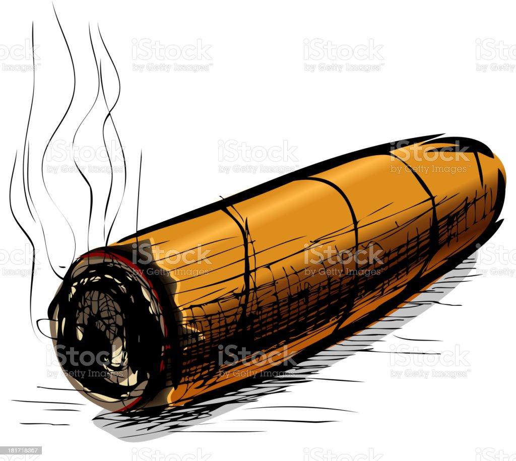 Lighting cigar royalty-free stock vector art