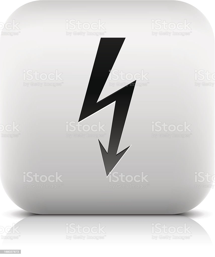 Lighting sign web internet icon square button black pictogram royalty-free stock vector art