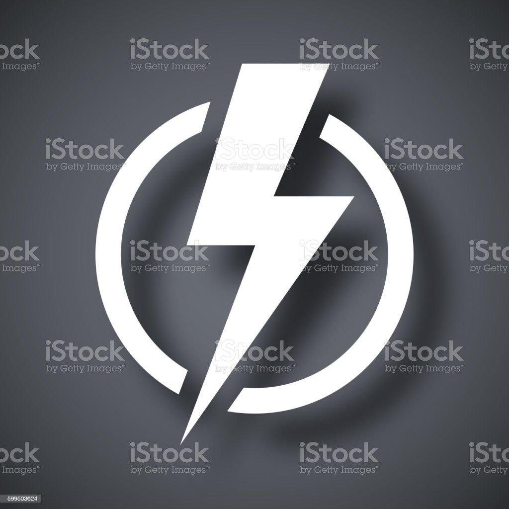 Lightning bolt icon, vector vector art illustration