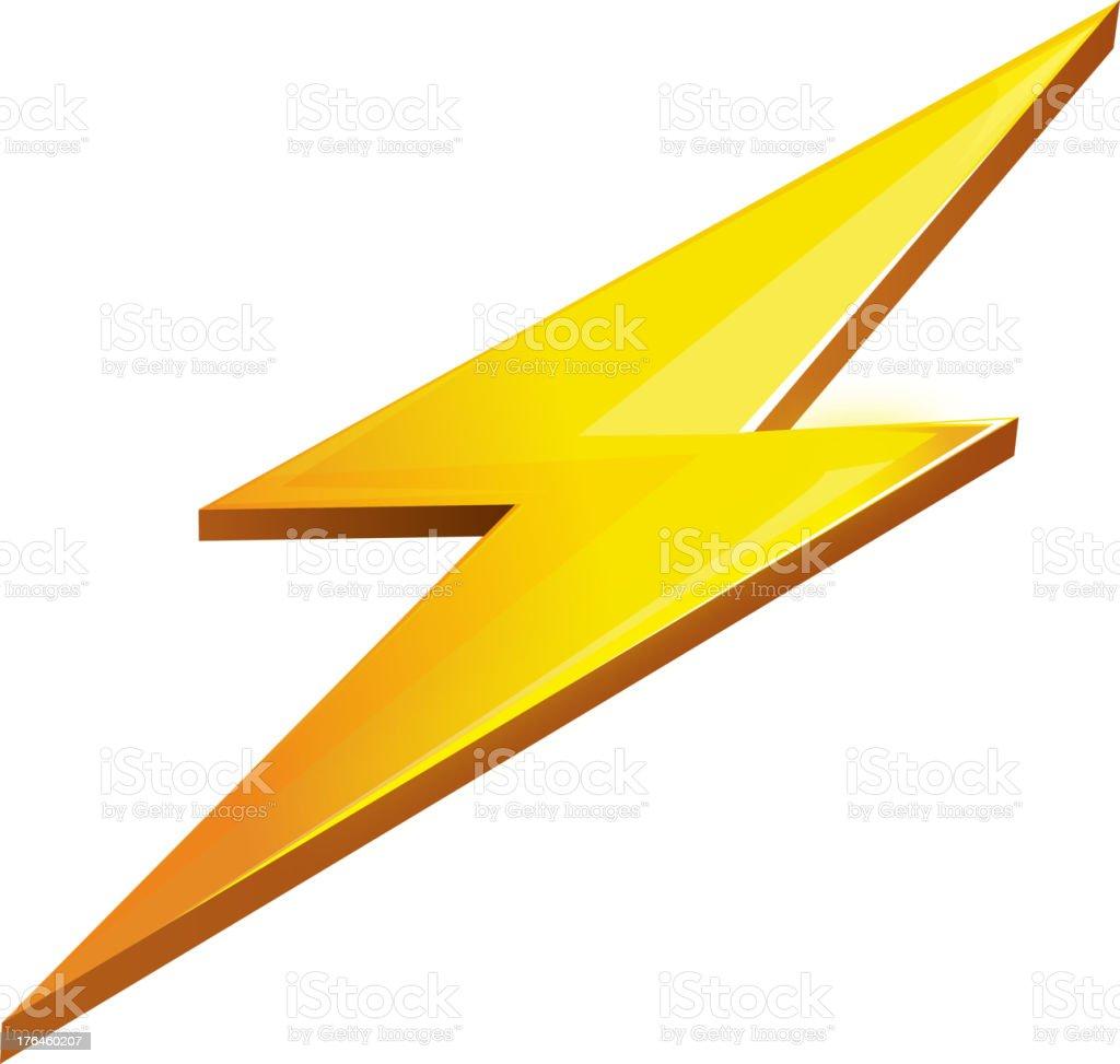 Lightning bolt on a white background royalty-free stock vector art