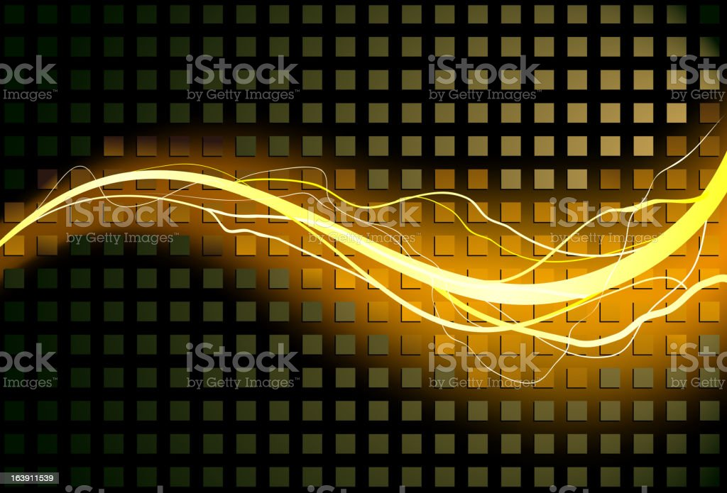 Lightning bolt swirls royalty-free stock vector art