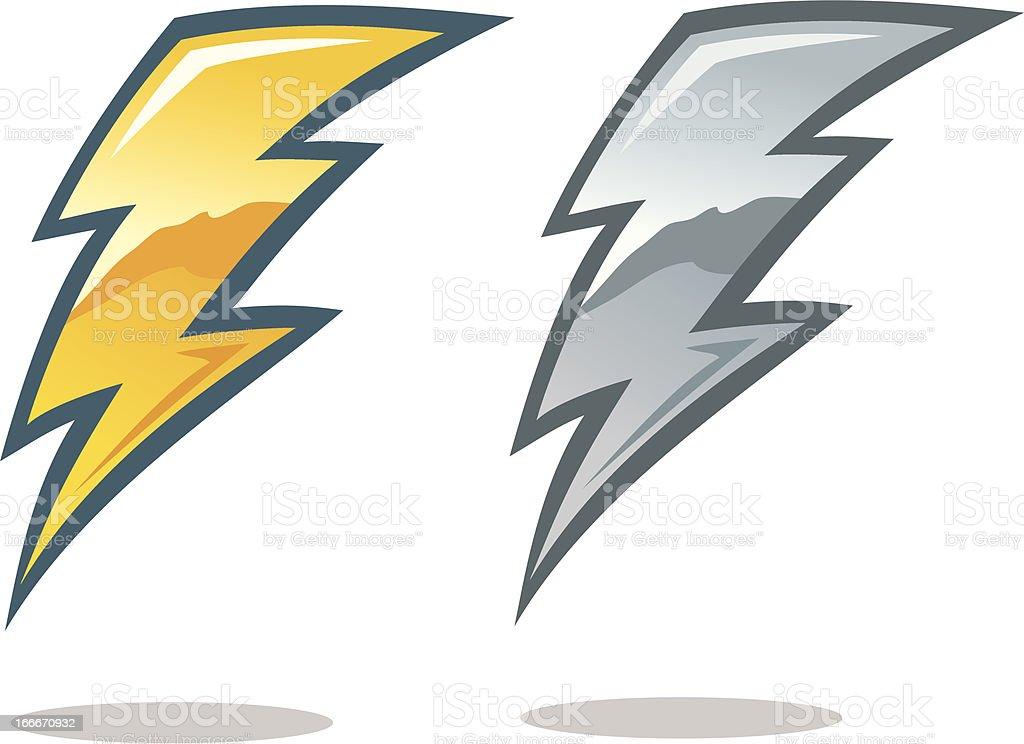 Lightning Bolt Symbol royalty-free stock vector art