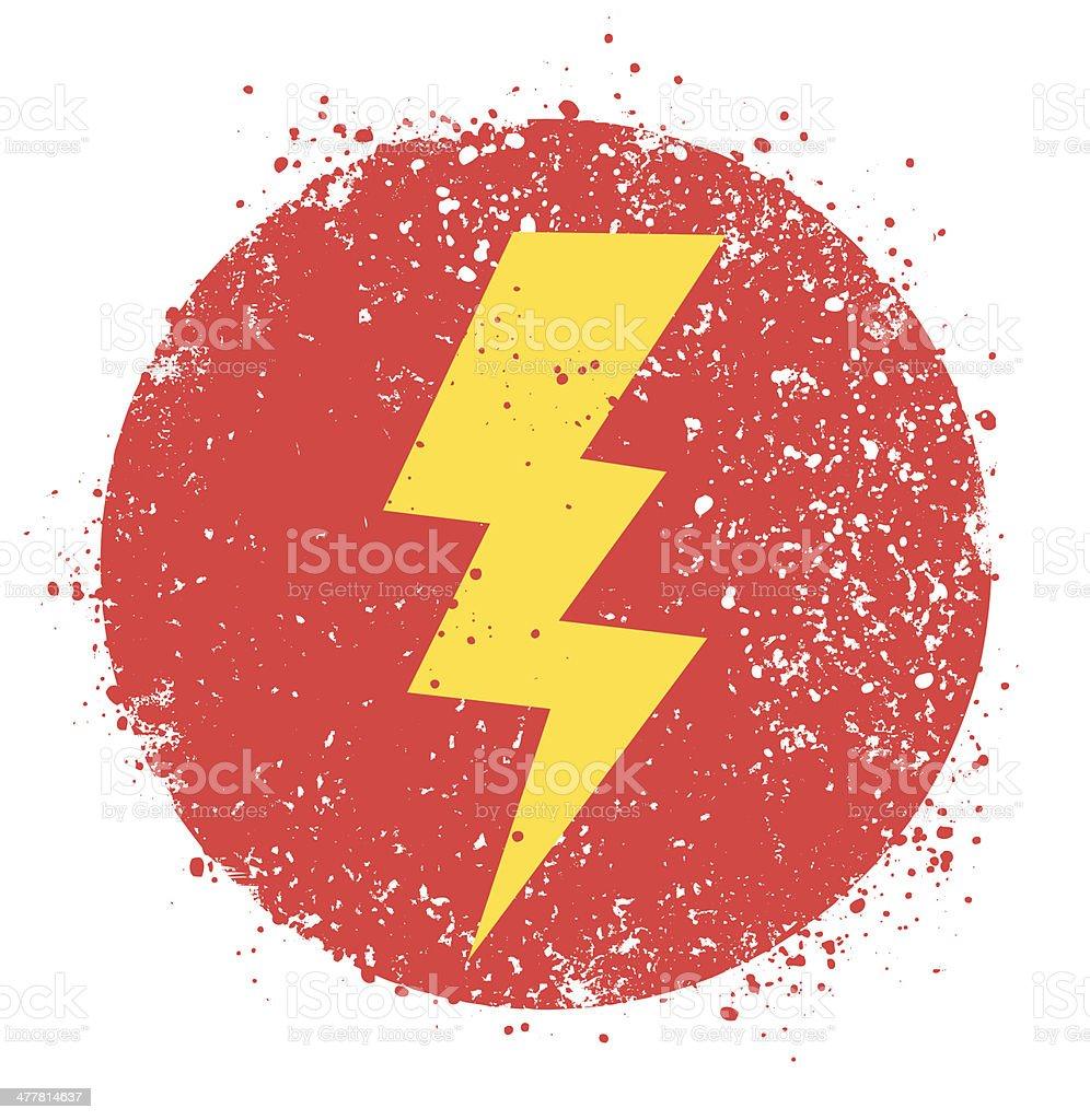 Lightning Bolt vector art illustration