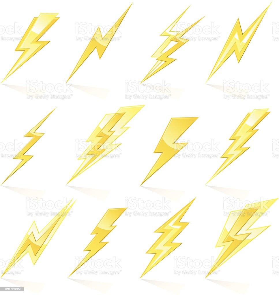 Lightning Bolts vector art illustration