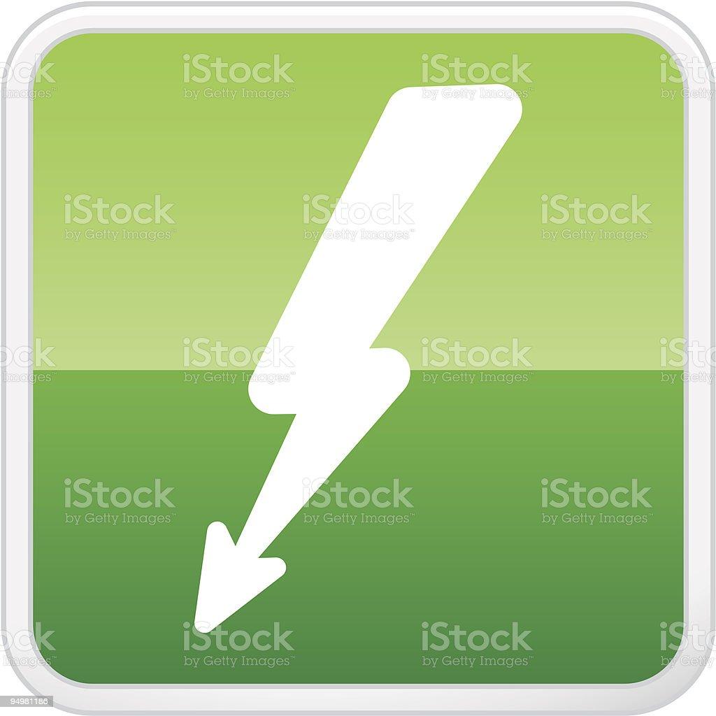 Lightning Button vector art illustration