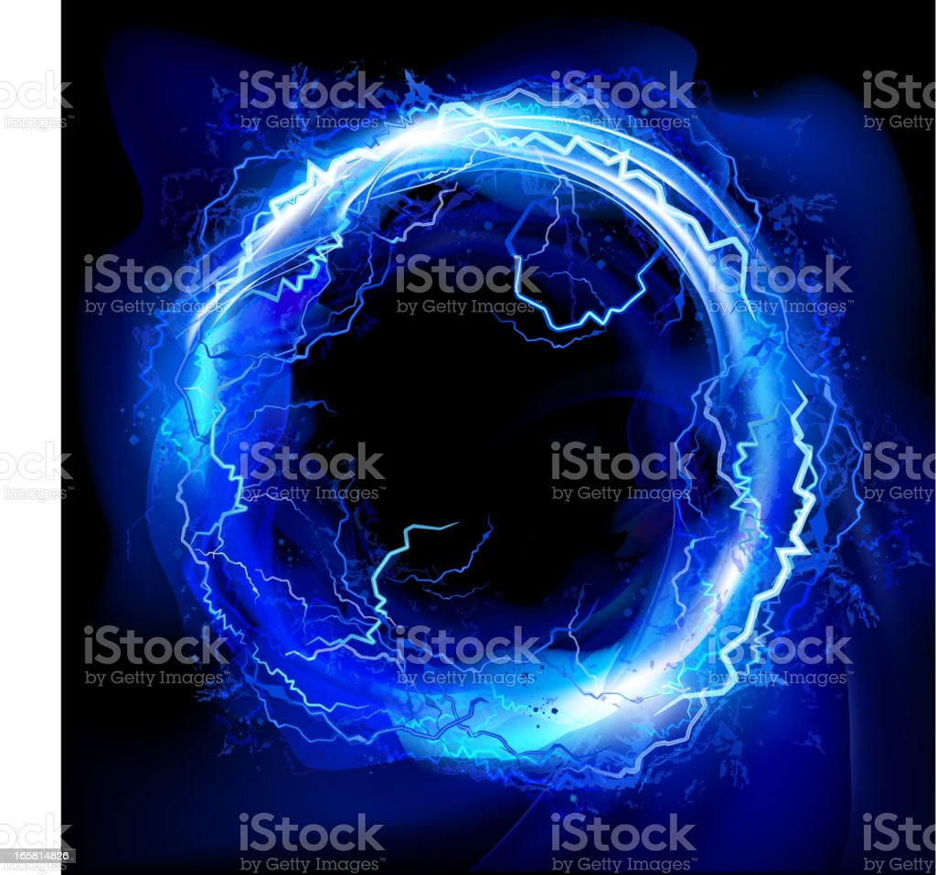 Lightning circle background royalty-free stock vector art