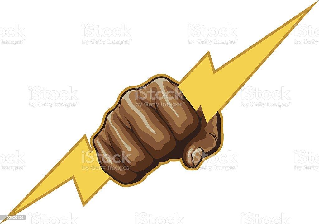 lightning fist royalty-free stock vector art