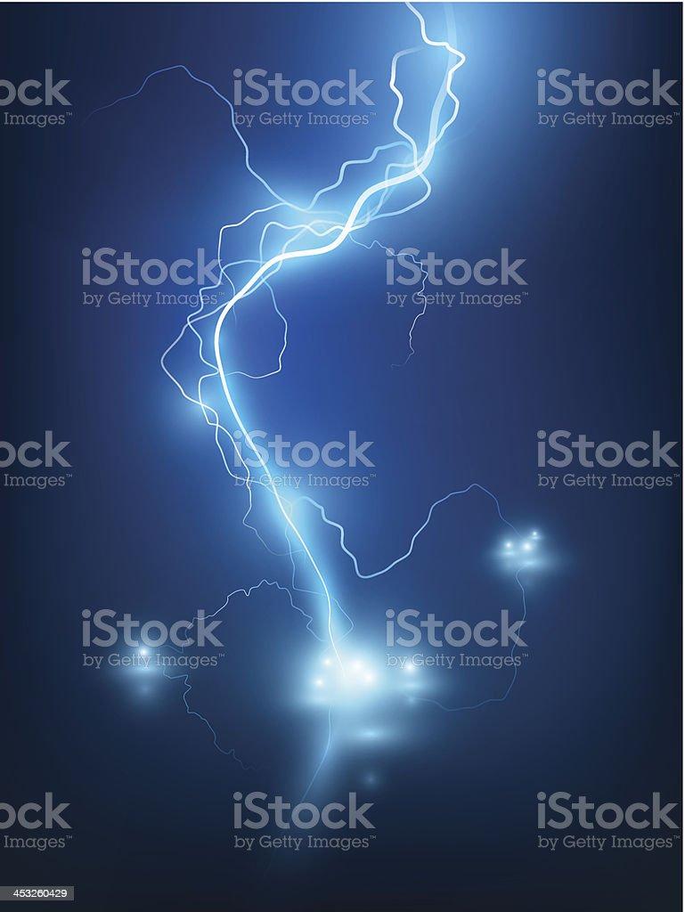 Lightning flash background. vector art illustration
