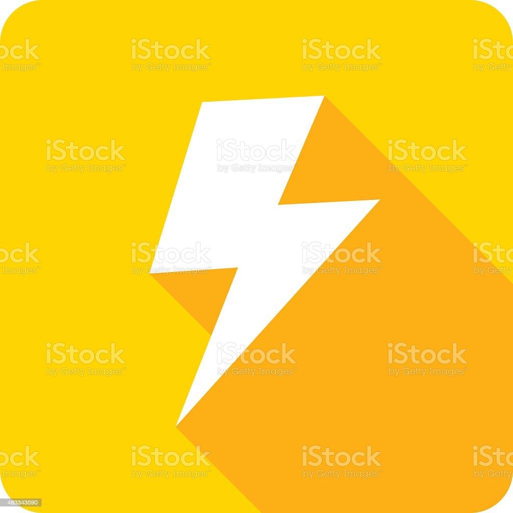 Lightning Icon Silhouette vector art illustration