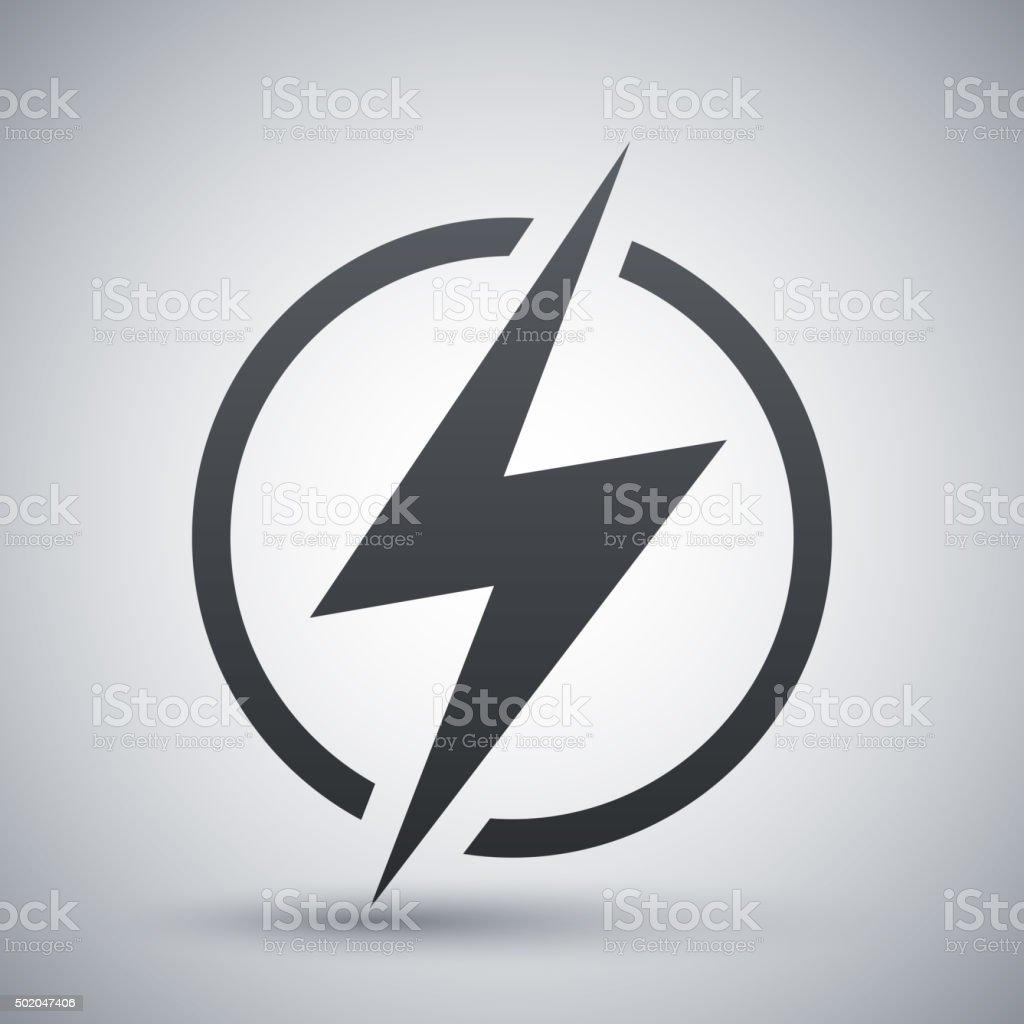 Lightning icon, vector vector art illustration