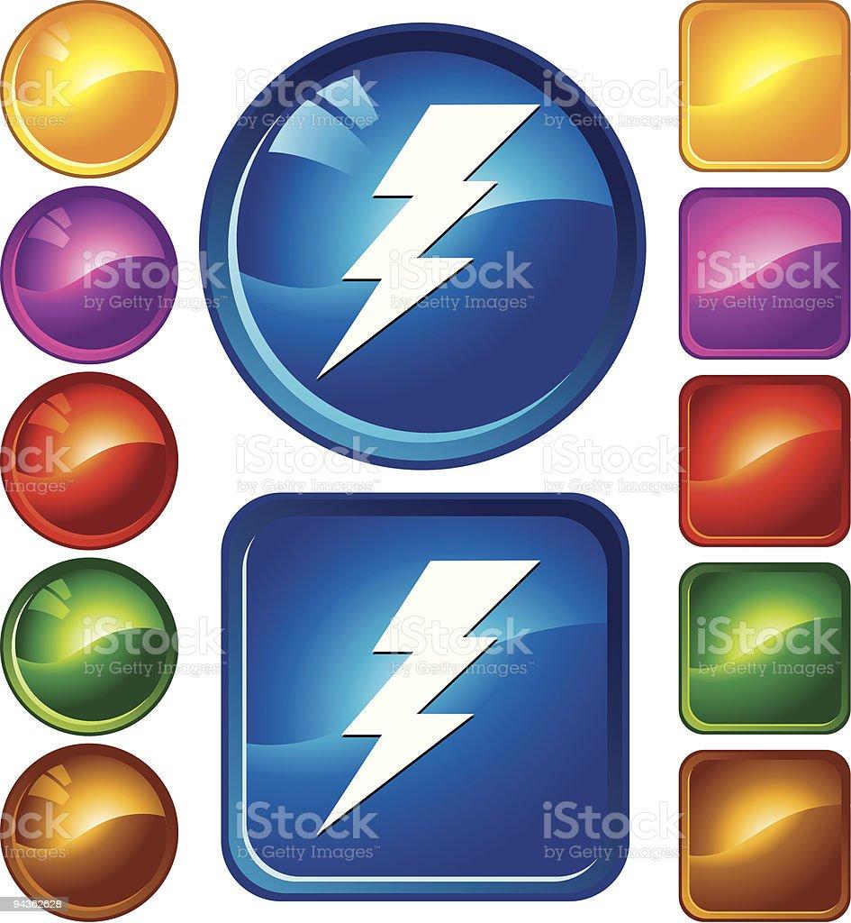 Lightning icons royalty-free stock vector art