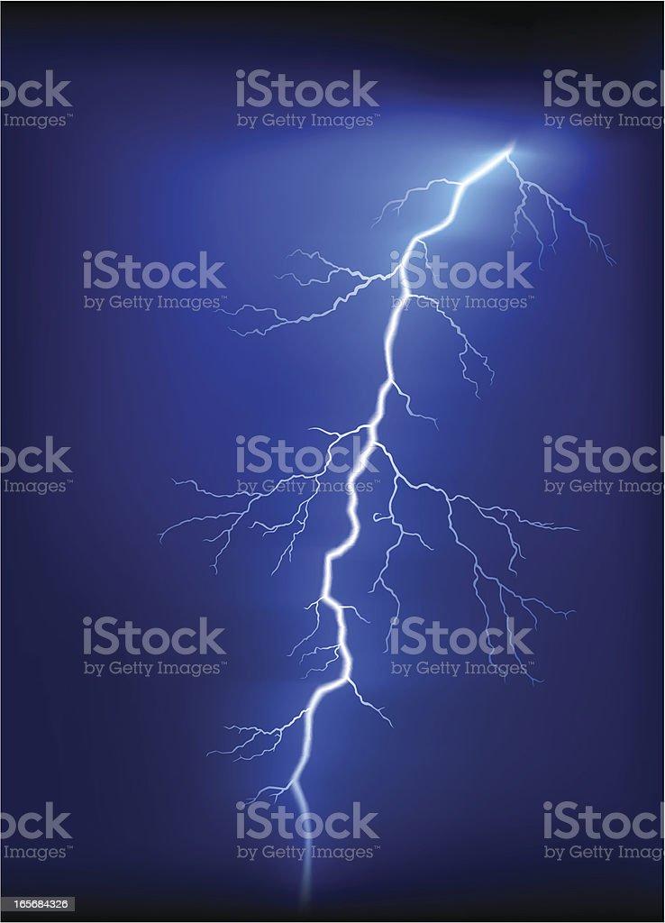 Lightning or Thunder royalty-free stock vector art