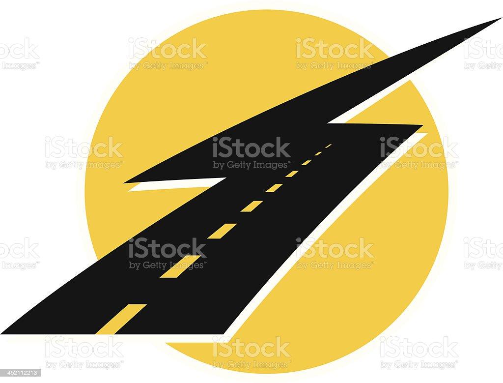 lightning road royalty-free stock vector art