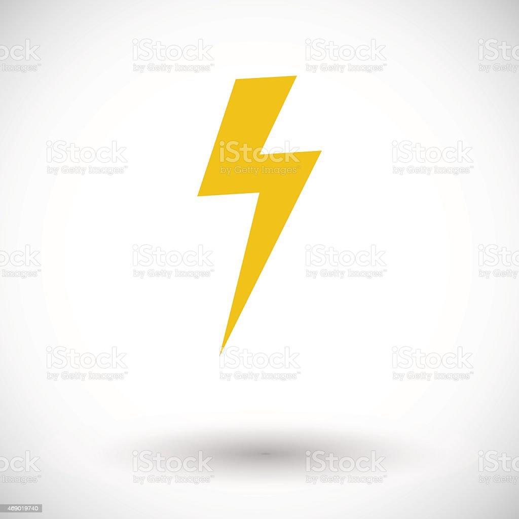 Lightning single icon vector art illustration