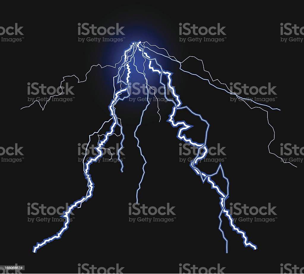 Lightning - VECTOR royalty-free stock vector art