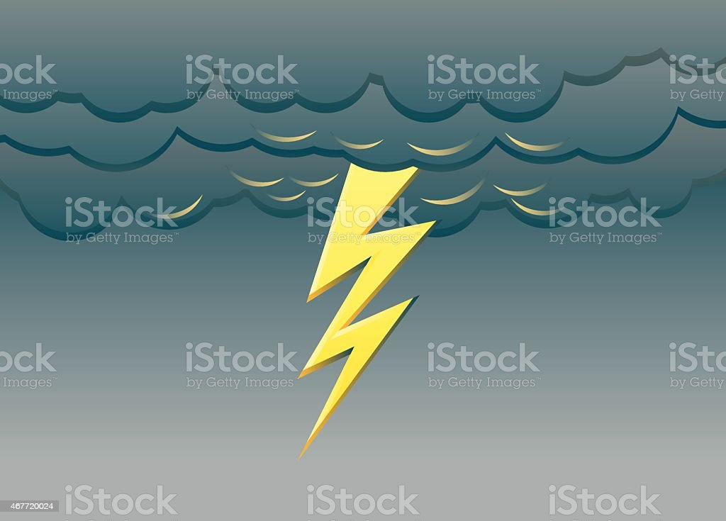 Lightning vector vector art illustration