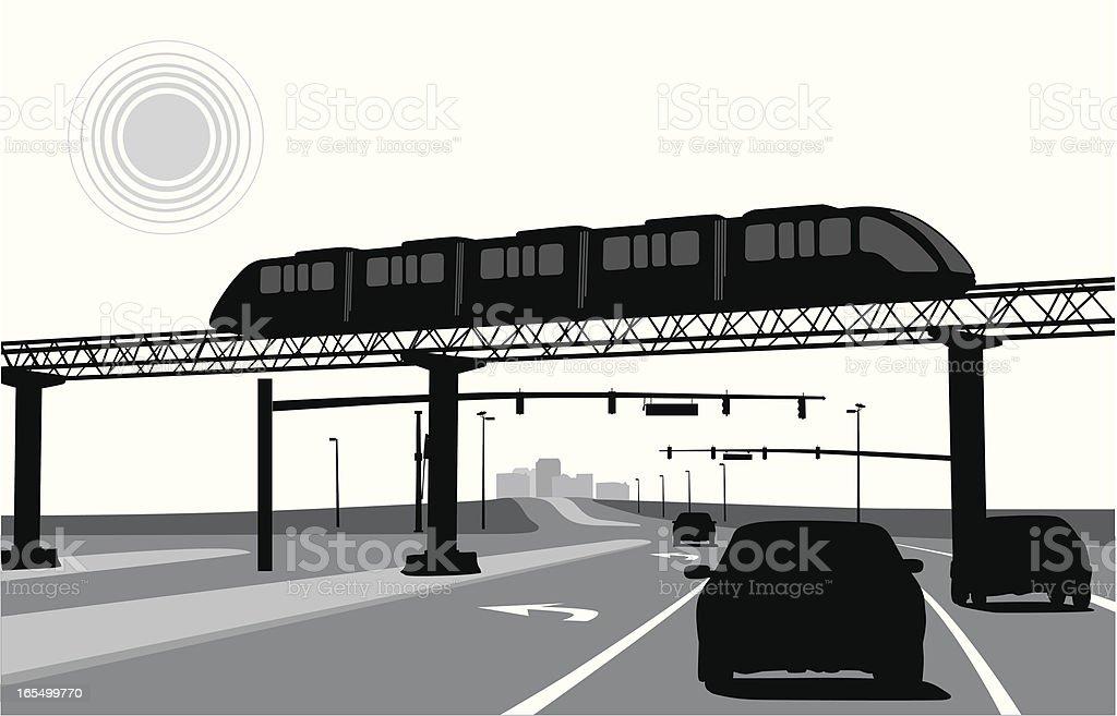 LightRail vector art illustration