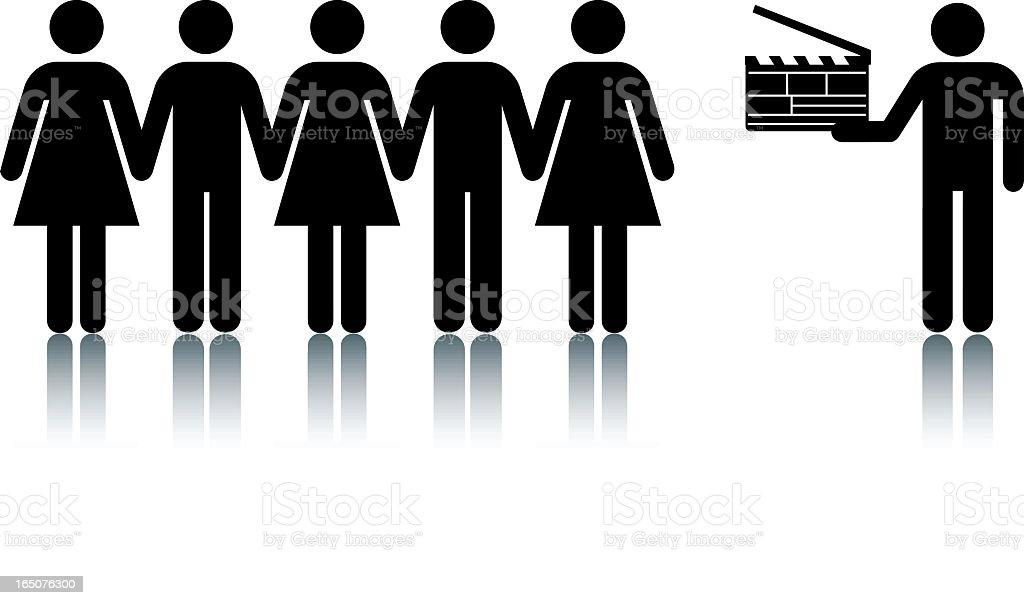 Lights, Camera, Action vector art illustration