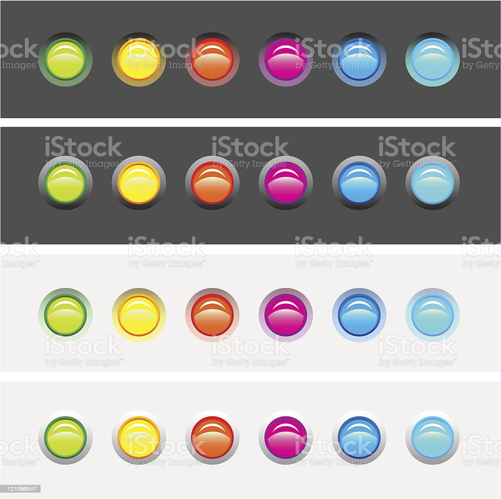 LED Lights Raised & Countersunk Options royalty-free stock vector art