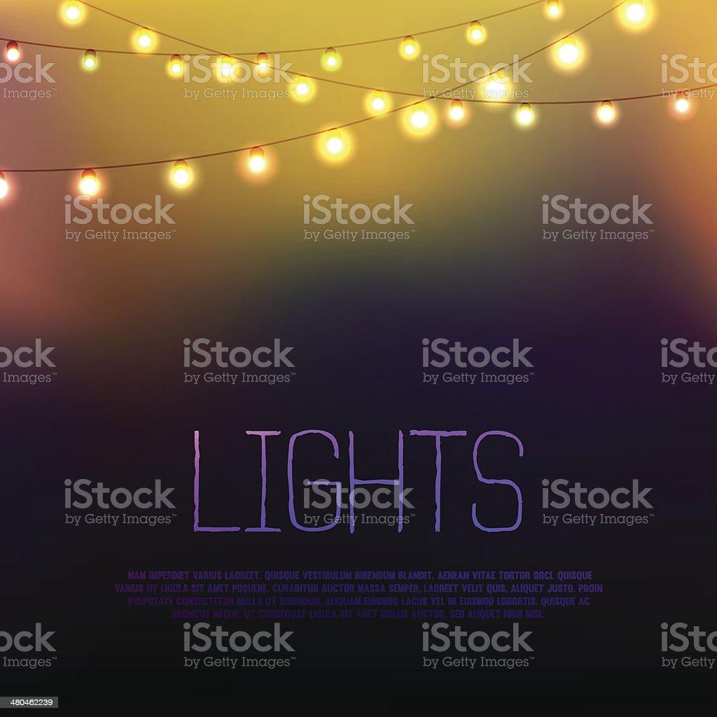 Lights royalty-free stock vector art