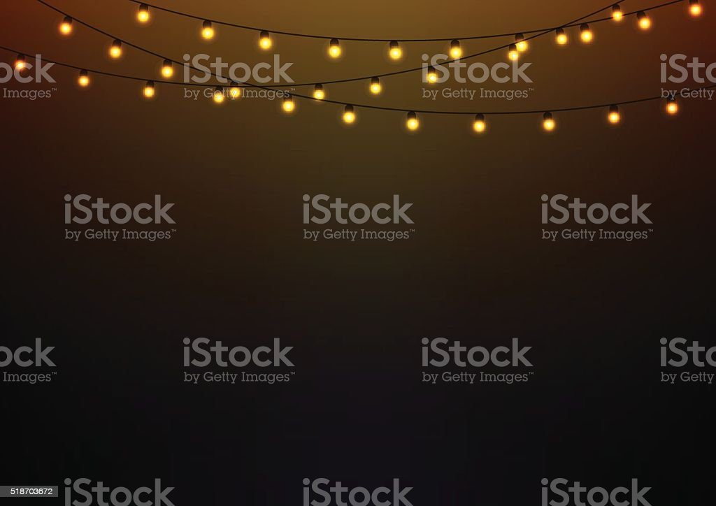 Lights vector art illustration