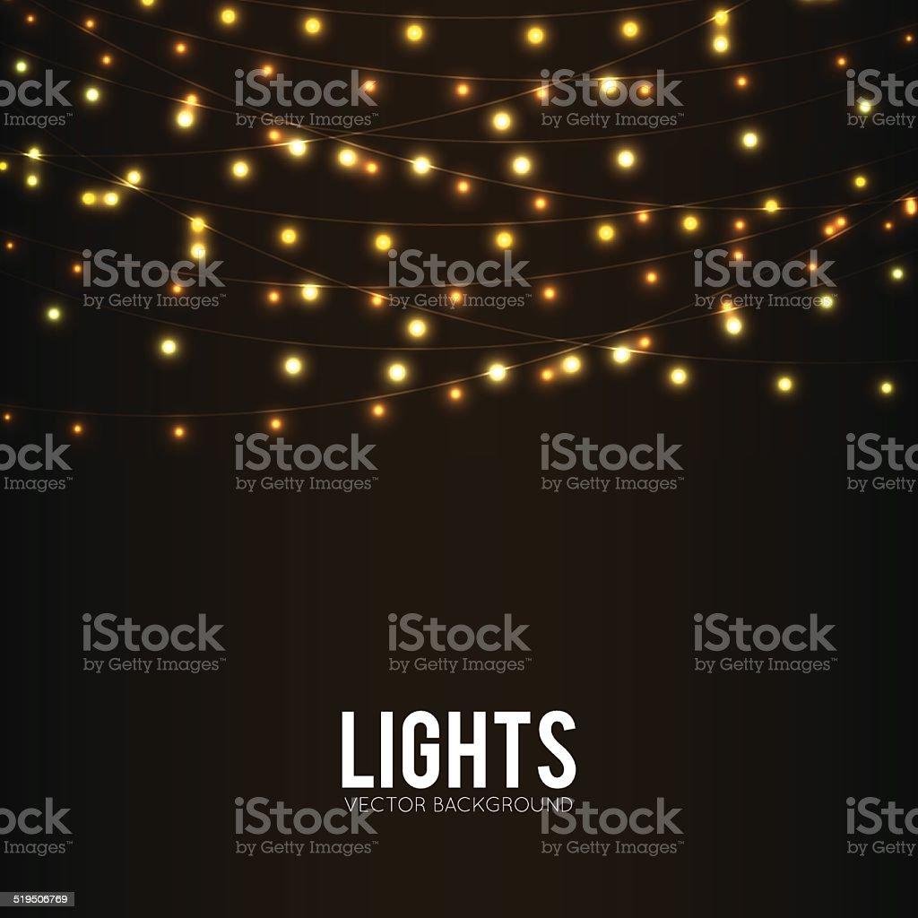 Lights vector art illustration