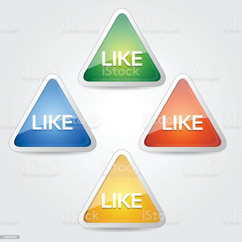 Like Glossy Button Icon royalty-free stock vector art