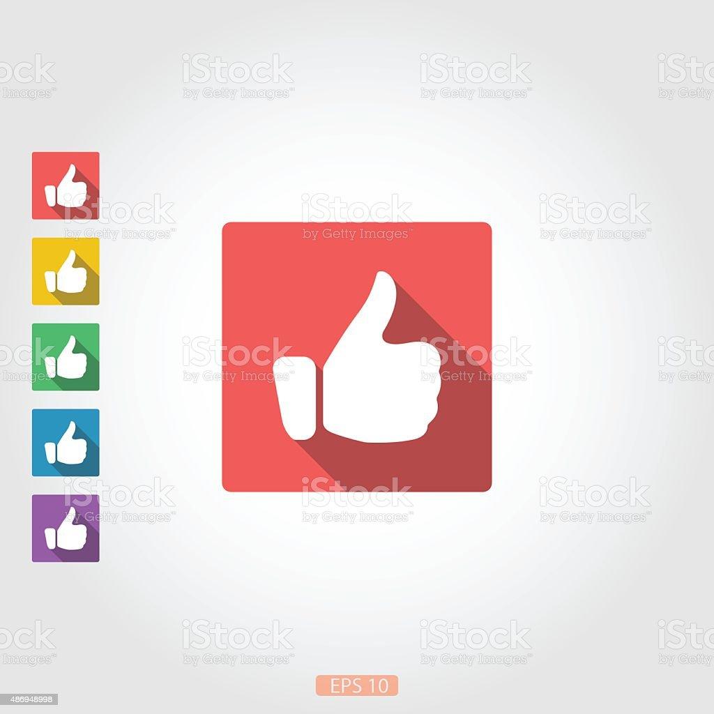 Like icons set vector art illustration