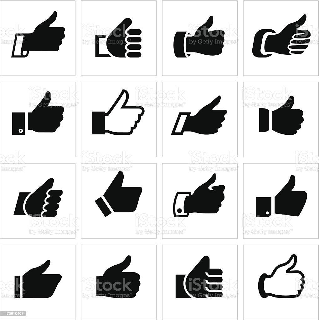Like, set icons vector art illustration