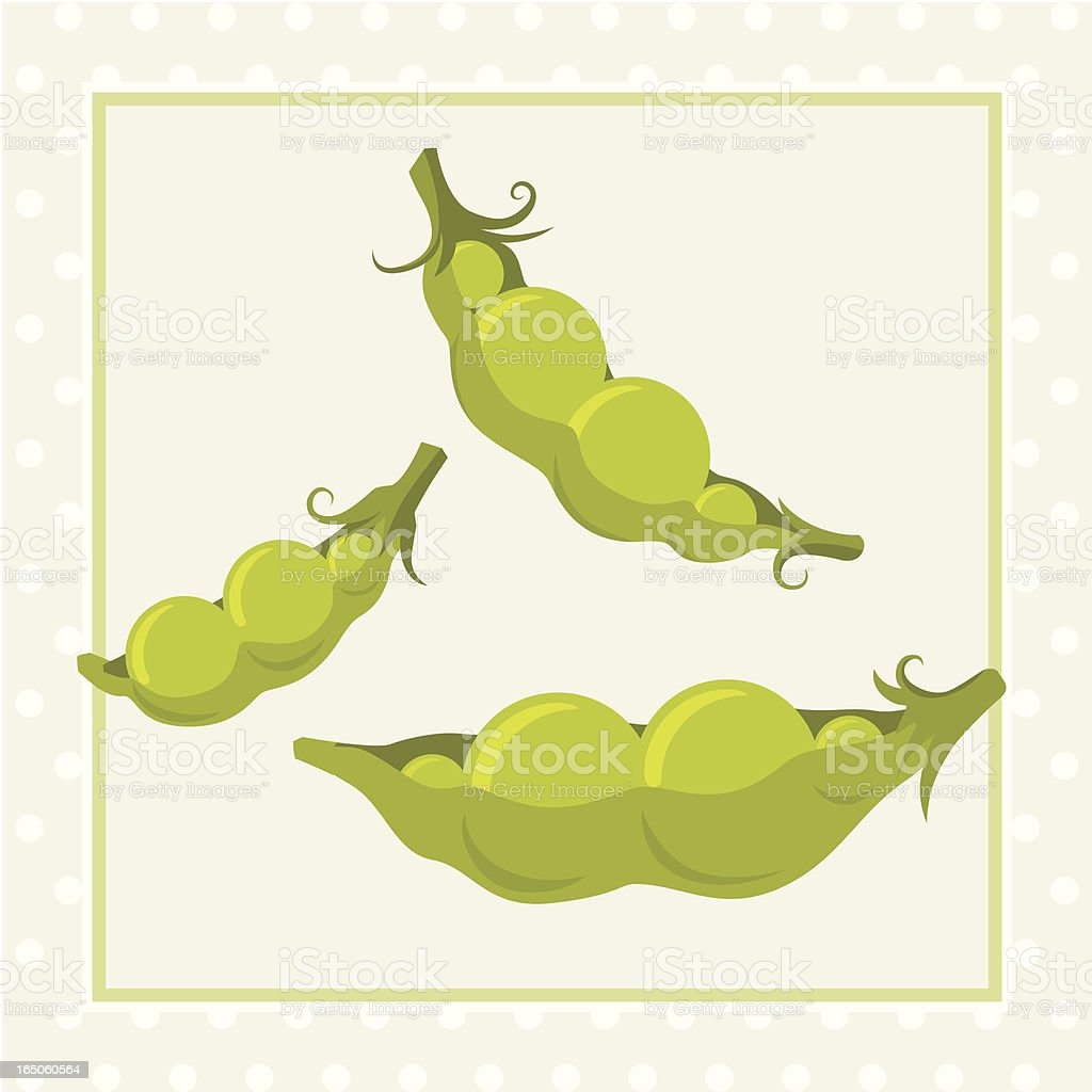 Like Two Peas In A Pod vector art illustration