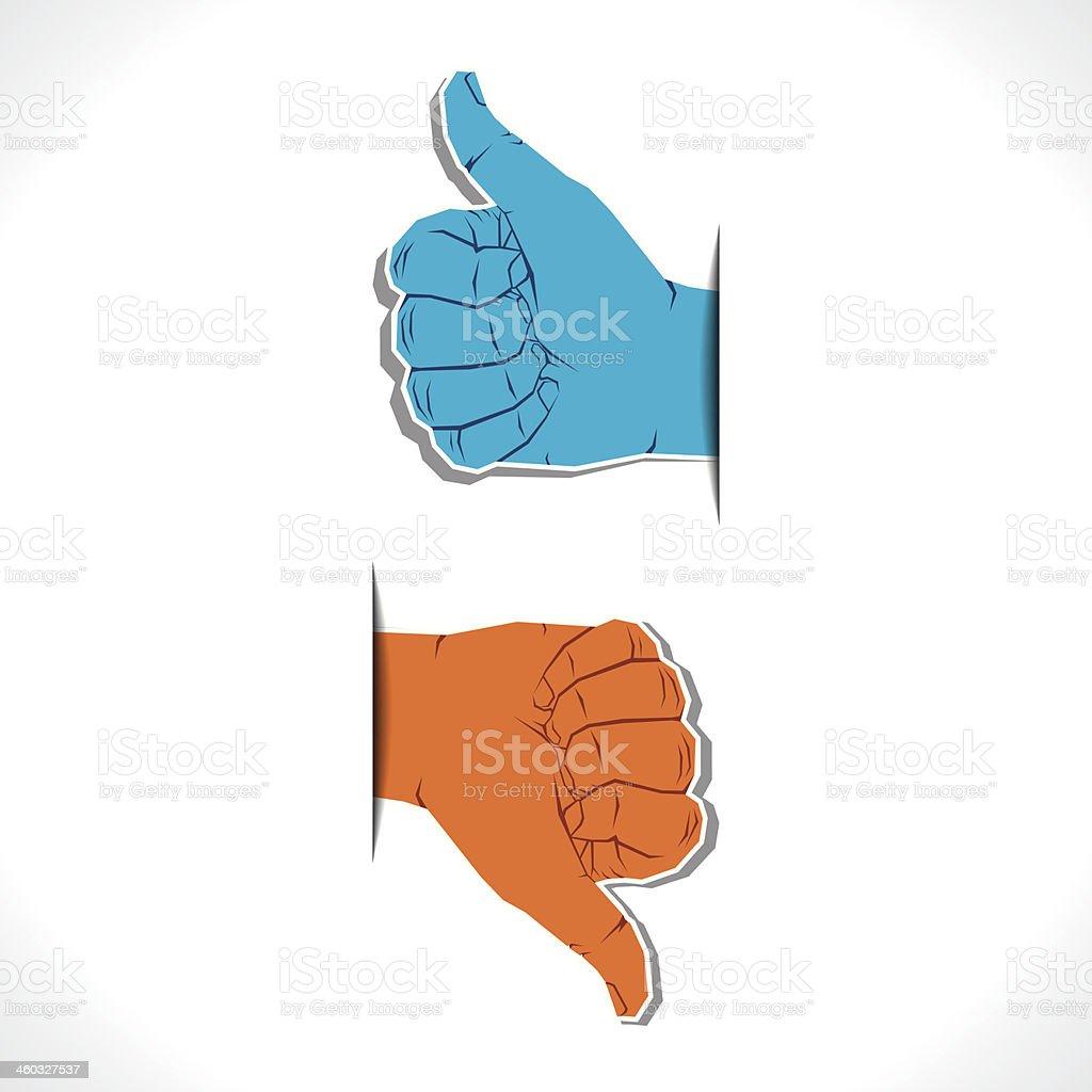 like unlike symbol vector art illustration