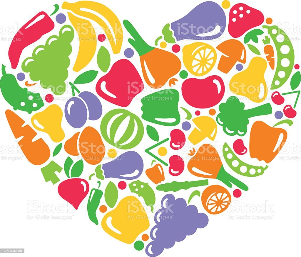 I like vegetables and fruit royalty-free stock vector art