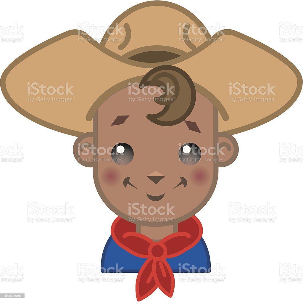 lil Cowboy (jpg & vector) royalty-free stock vector art