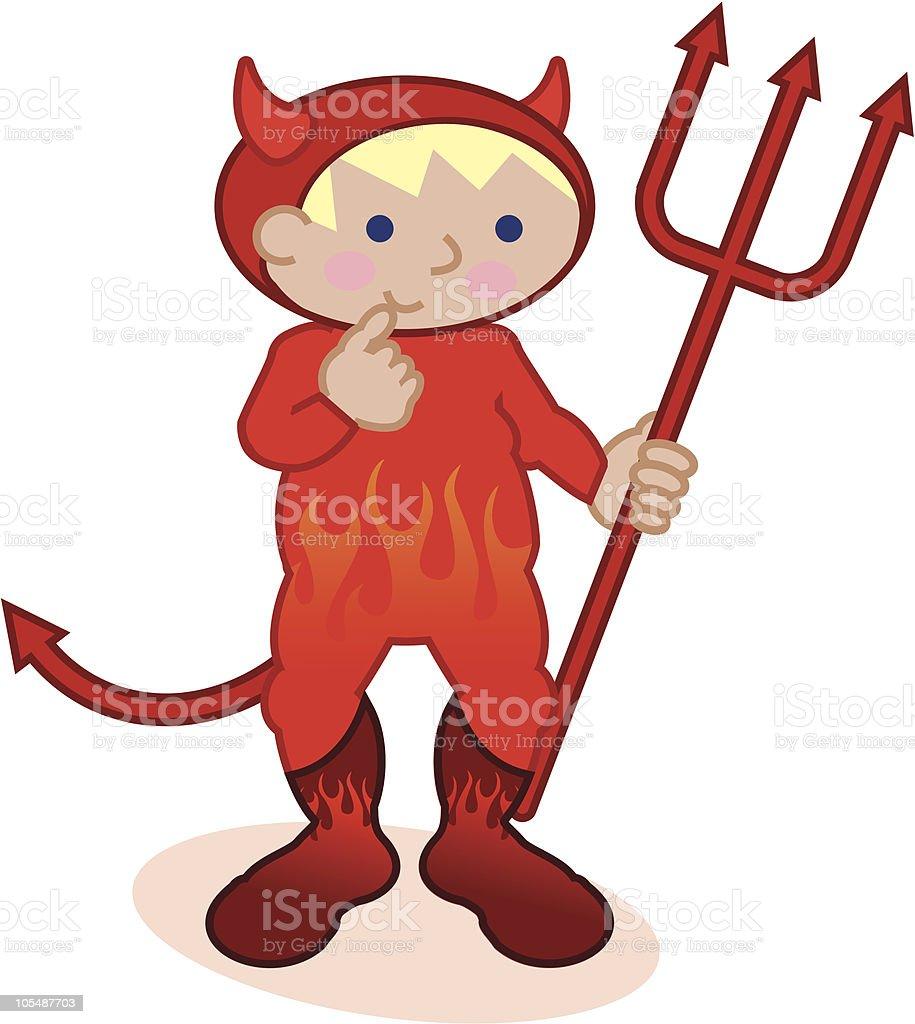 Li'l Devil vector art illustration