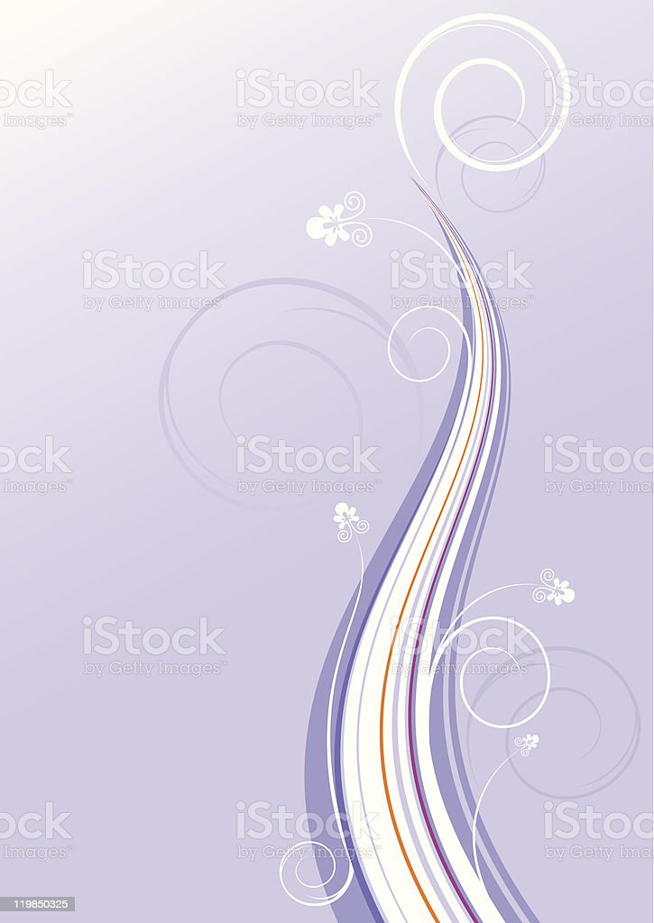 Lilac drawing with wavy line royalty-free stock vector art