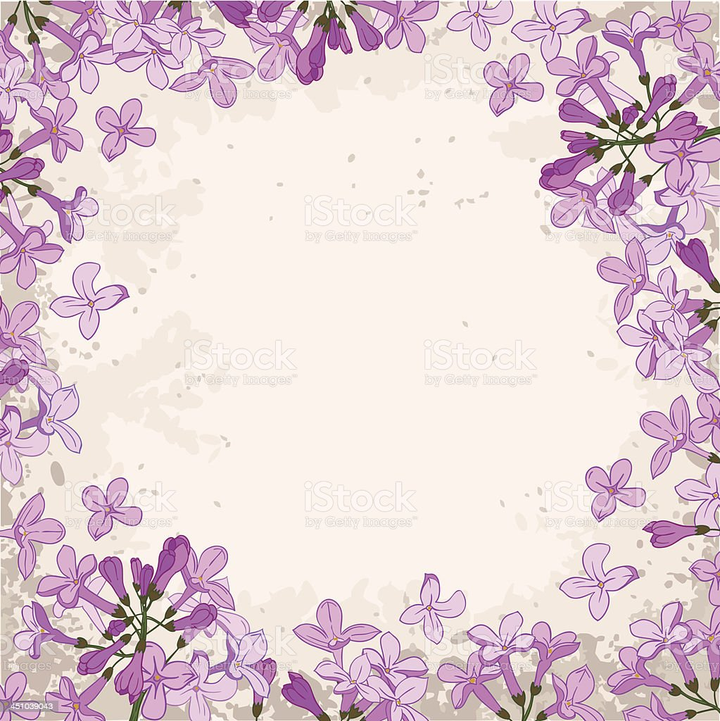 lilac frame royalty-free stock vector art